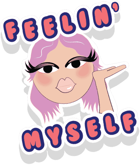 Feeling myself sticker